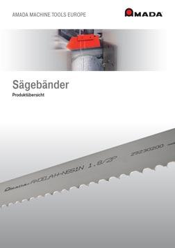 PDF-Vorschau Amada Sägebänder Auswahlhilfe