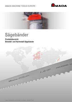 PDF-Vorschau Amada Sägebänder Produktübersicht