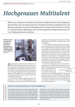 Spinner AG - Pressebericht Technische Rundschau Ausgabe 10/2018