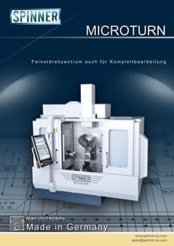 - Spinner Werkzeugmaschinenfabrik GmbH – Vorschau Prospekt Microturn (deutsch)