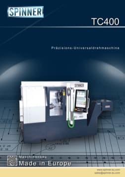 - Spinner Werkzeugmaschinenfabrik GmbH – Vorschau Prospekt TC400 (deutsch)