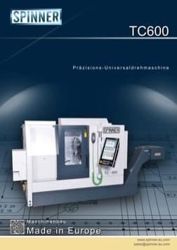 - Spinner Werkzeugmaschinenfabrik GmbH – Vorschau Prospekt TC600 (deutsch)