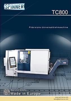 - Spinner Werkzeugmaschinenfabrik GmbH – Vorschau Prospekt TC800 (deutsch)