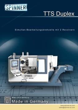 - Spinner Werkzeugmaschinenfabrik GmbH – Vorschau Prospekt TTS Duplex (deutsch)