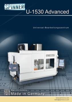 - Spinner Werkzeugmaschinenfabrik GmbH – Vorschau Prospekt U1530 Advanced (deutsch)
