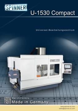 - Spinner Werkzeugmaschinenfabrik GmbH – Vorschau Prospekt U1530 Compact (deutsch)