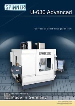- Spinner Werkzeugmaschinenfabrik GmbH – Vorschau Prospekt U630 Advanced (deutsch)