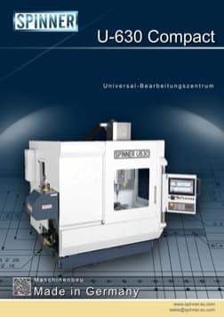 - Spinner Werkzeugmaschinenfabrik GmbH – Vorschau Prospekt U630 Compact (deutsch)