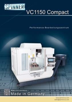 - Spinner Werkzeugmaschinenfabrik GmbH – Vorschau Prospekt VC1150 Compact (deutsch)