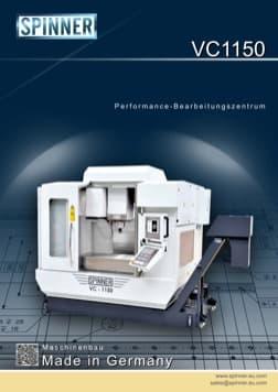 - Spinner Werkzeugmaschinenfabrik GmbH – Vorschau Prospekt VC1150 (deutsch)