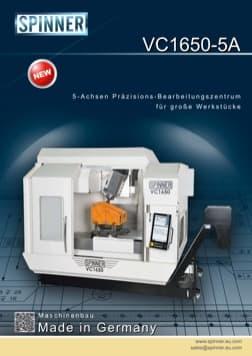 - Spinner Werkzeugmaschinenfabrik GmbH – Vorschau Prospekt VC1650 5A (deutsch)