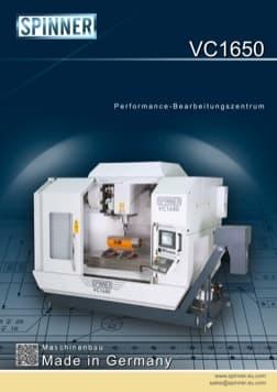 - Spinner Werkzeugmaschinenfabrik GmbH – Vorschau Prospekt VC1650 (deutsch)