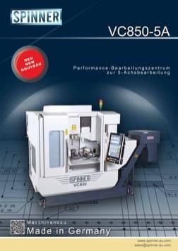 - Spinner Werkzeugmaschinenfabrik GmbH – Vorschau Prospekt VC850-5A (deutsch)