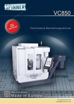 - Spinner Werkzeugmaschinenfabrik GmbH – Vorschau Prospekt VC850 (deutsch)