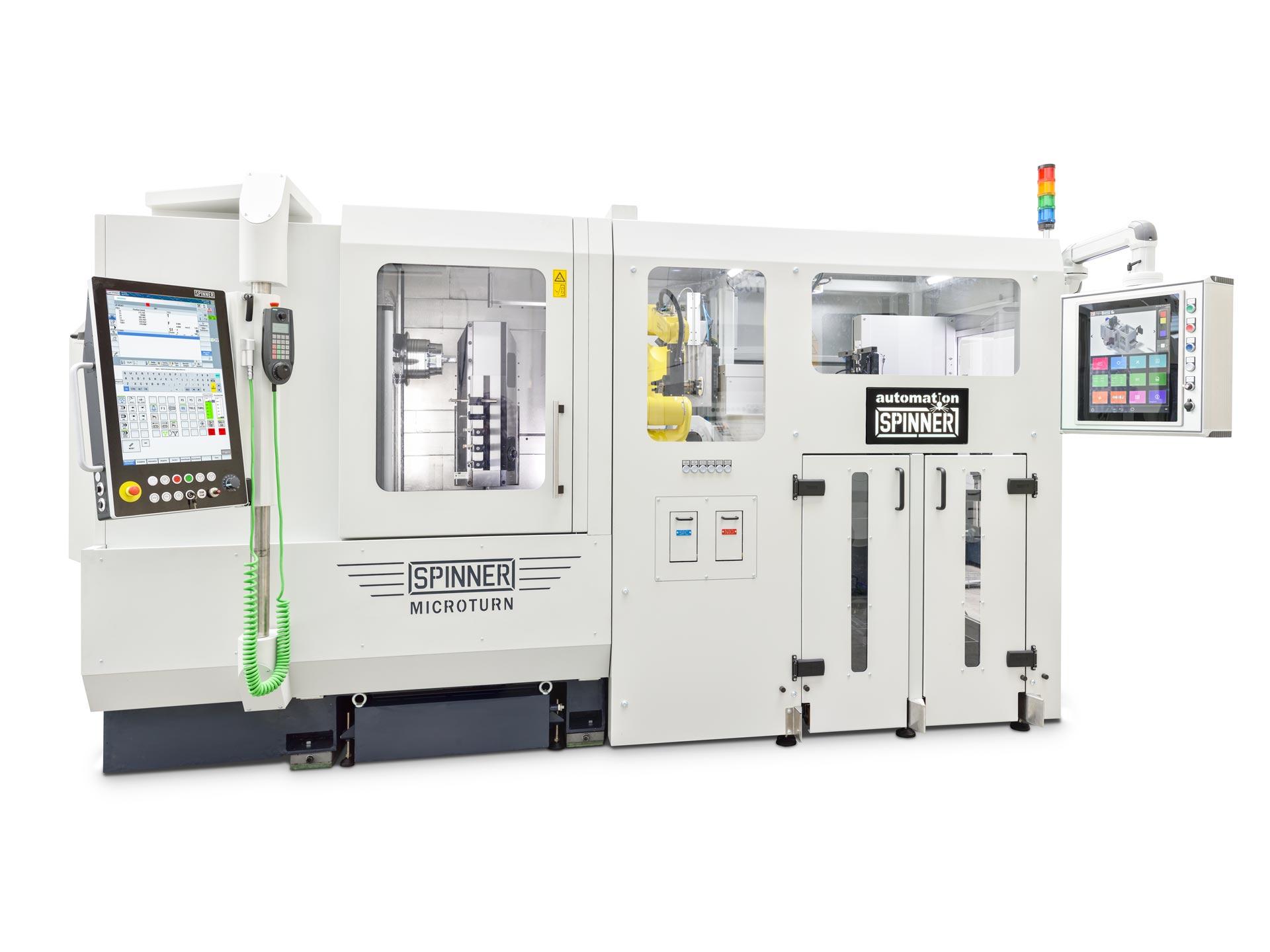 Spinner AG - Ultrapräzisionszentrum Microturn LT - mit Automation