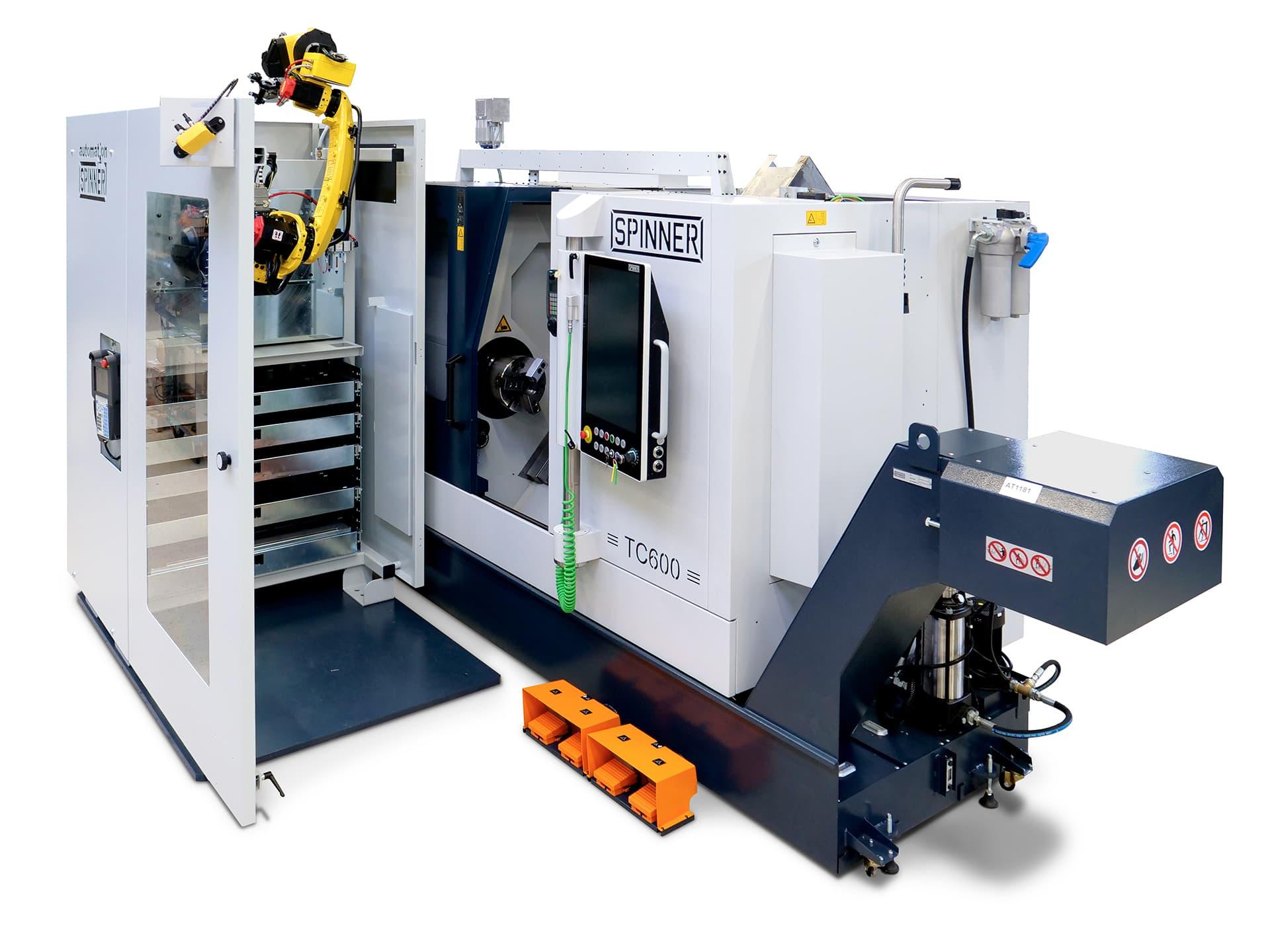 Spinner AG - Robobox mit Spinner Universaldrehmaschine TC600