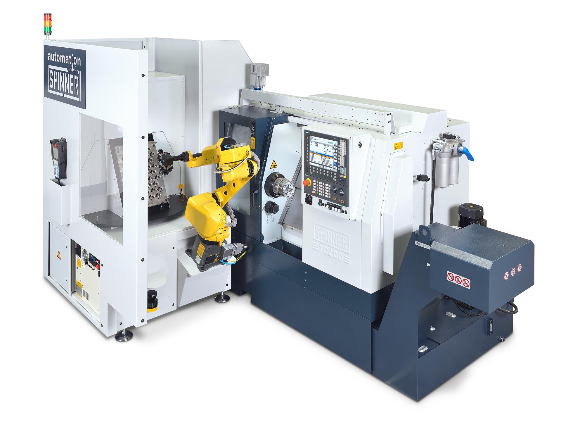 Spinner AG - Universaldrehmaschine TC400 mit Universalroboterzelle