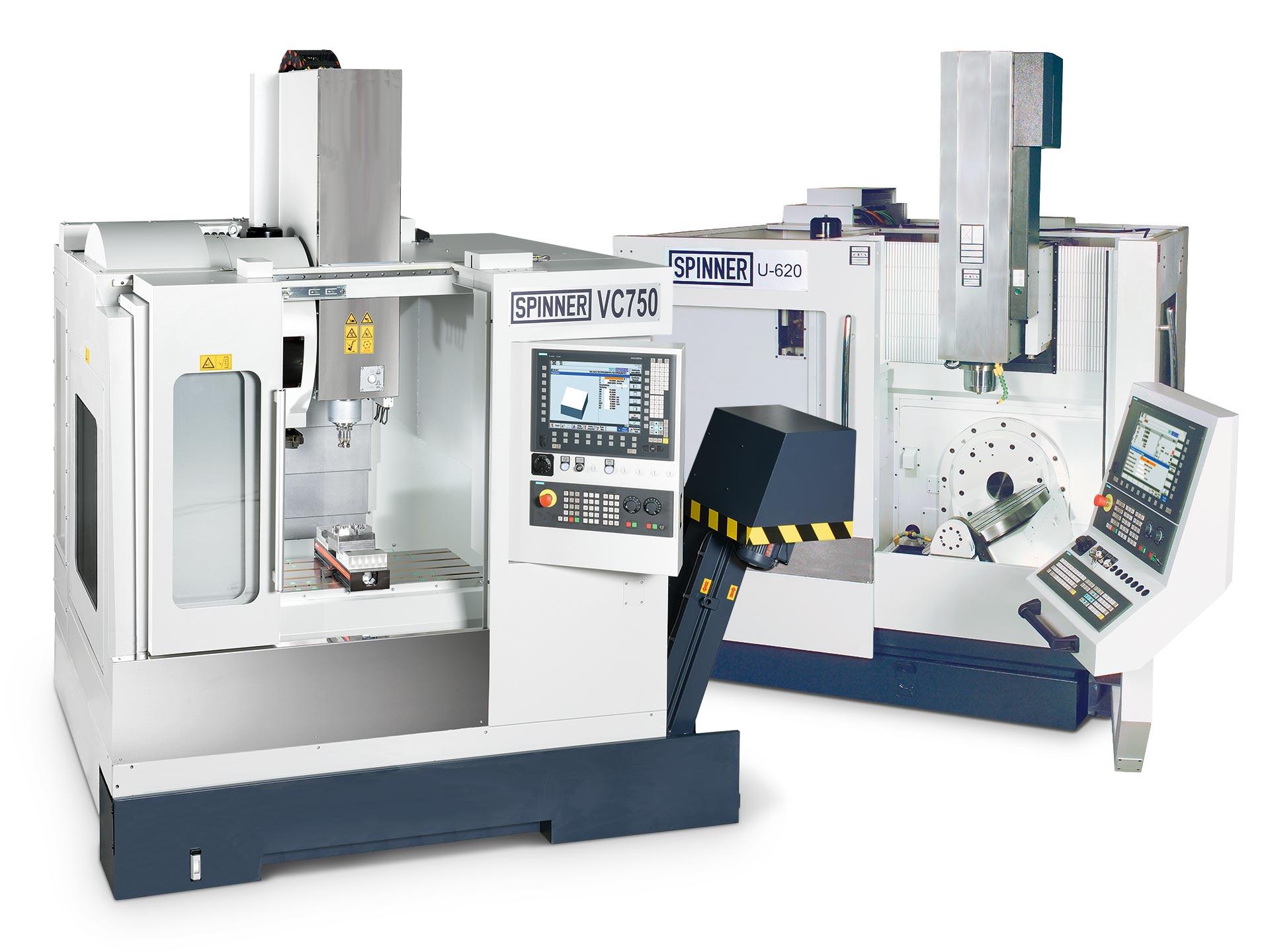 Spinner AG - Spinner U5-620 Compact und VC750 mit Siemens Sinumerik 840D sl