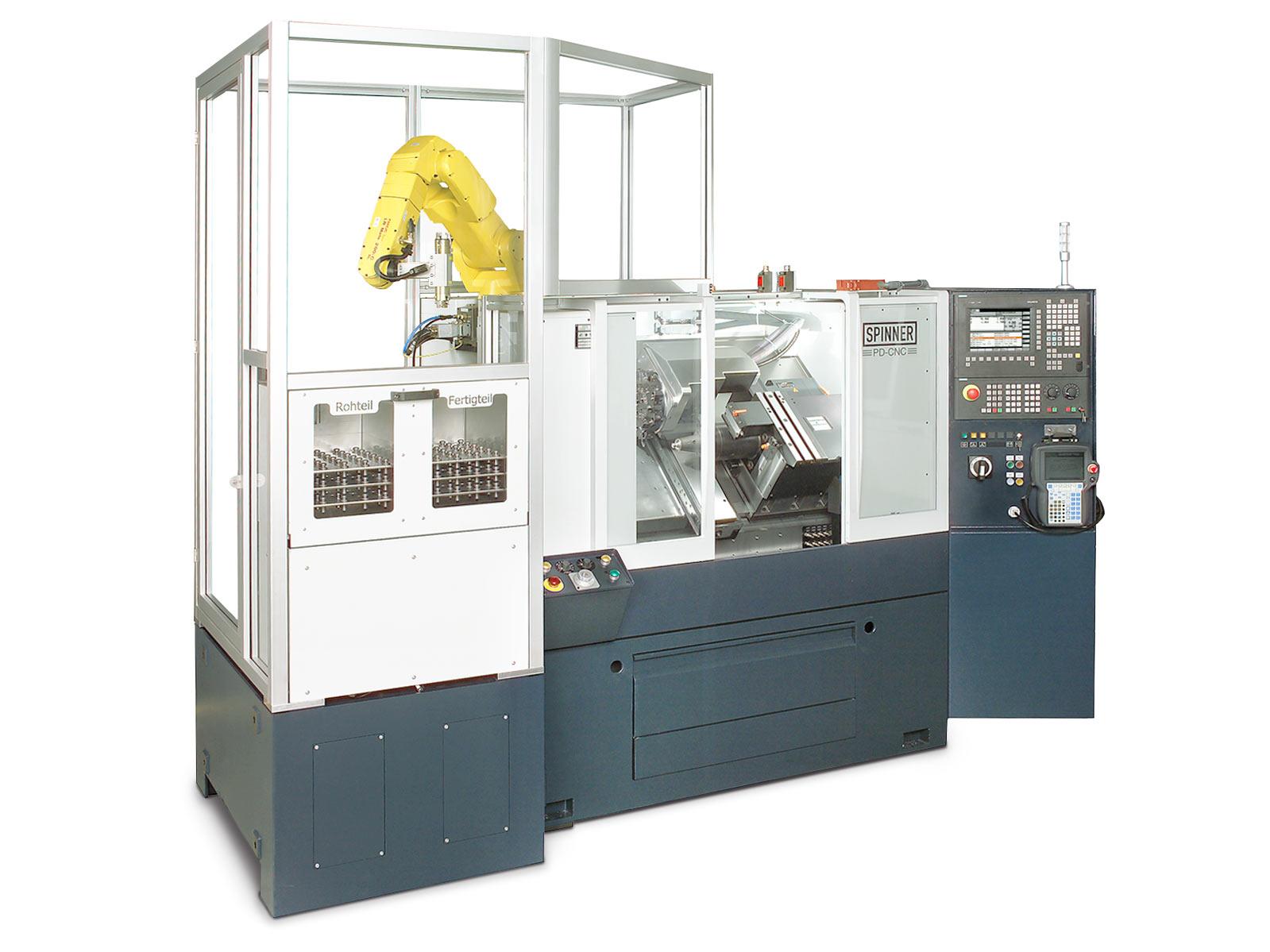 Spinner AG - Ultrapräzisionsdrehmaschine PD - Roboter extern