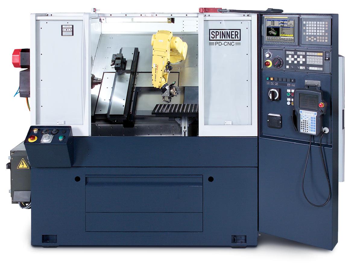 Spinner AG - Ultrapräzisionsdrehmaschine PD - Roboter intern