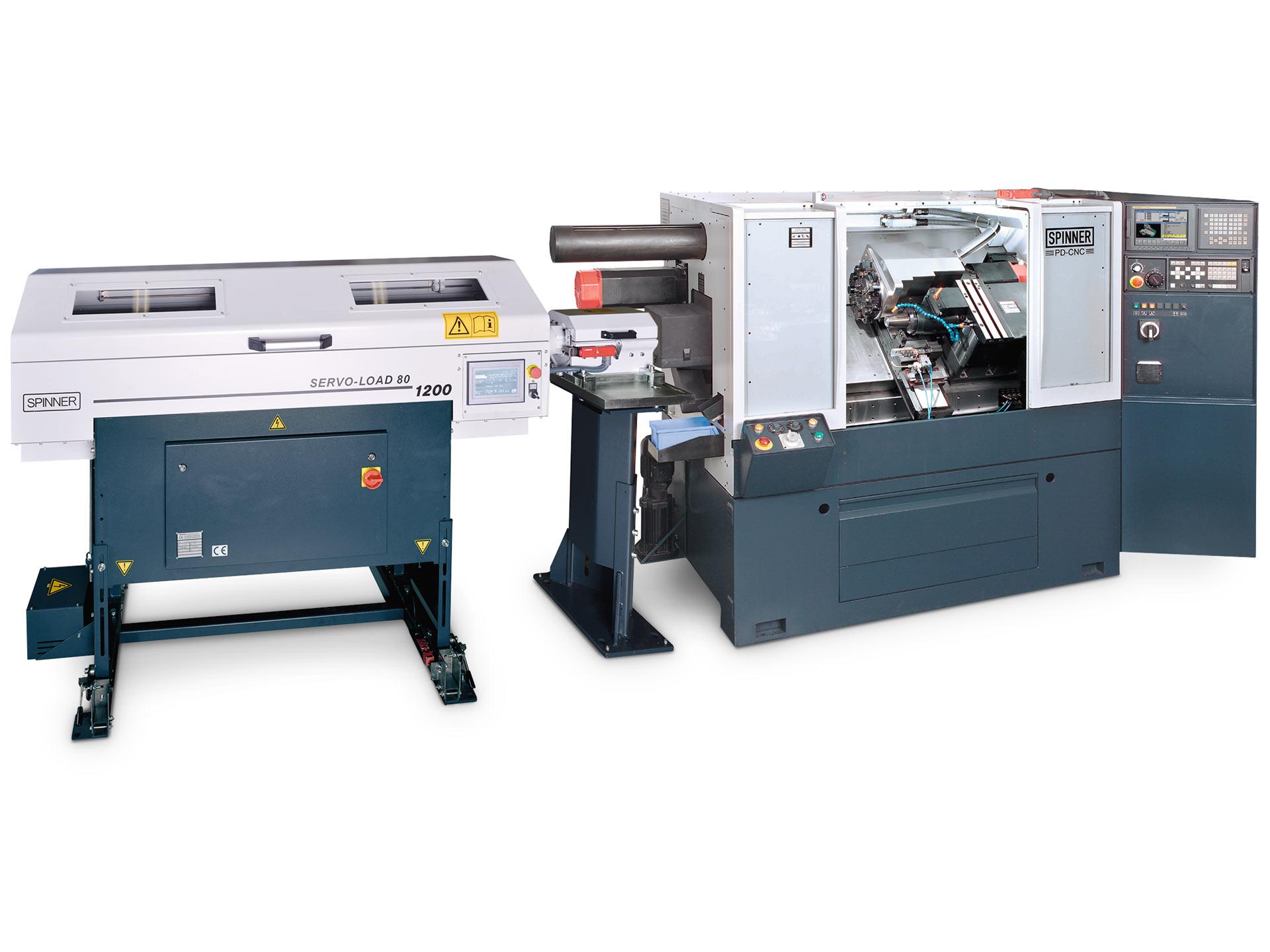 Spinner AG - Ultrapräzisionsdrehmaschine PD - Stangenlader Servoload