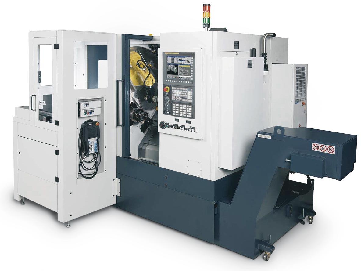 Spinner AG - leistungsstarke Universaldrehmaschine TC300 - mit internem Roboter