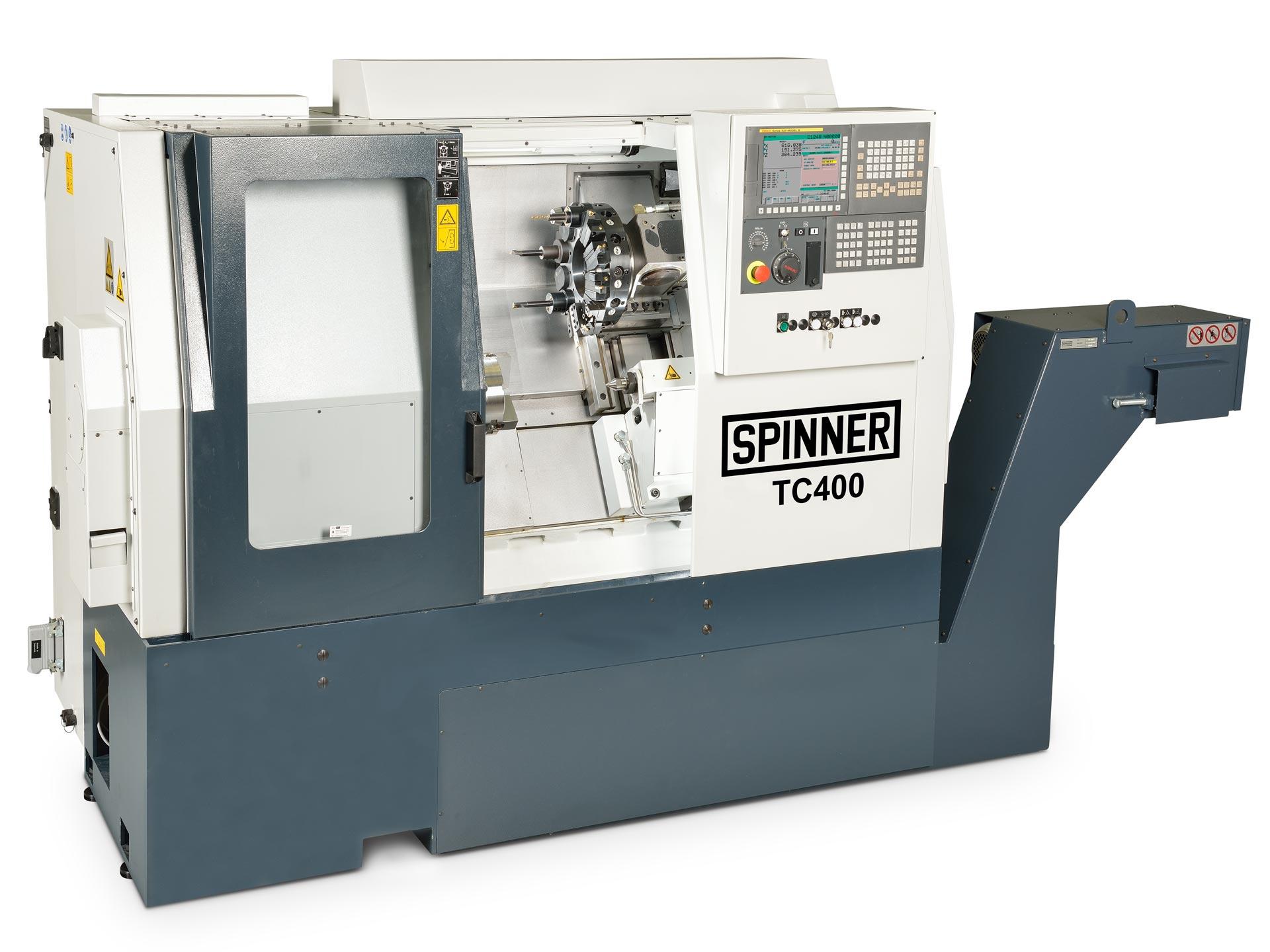 Spinner AG - leistungsstarke Universaldrehmaschine TC400 mit Fanuc