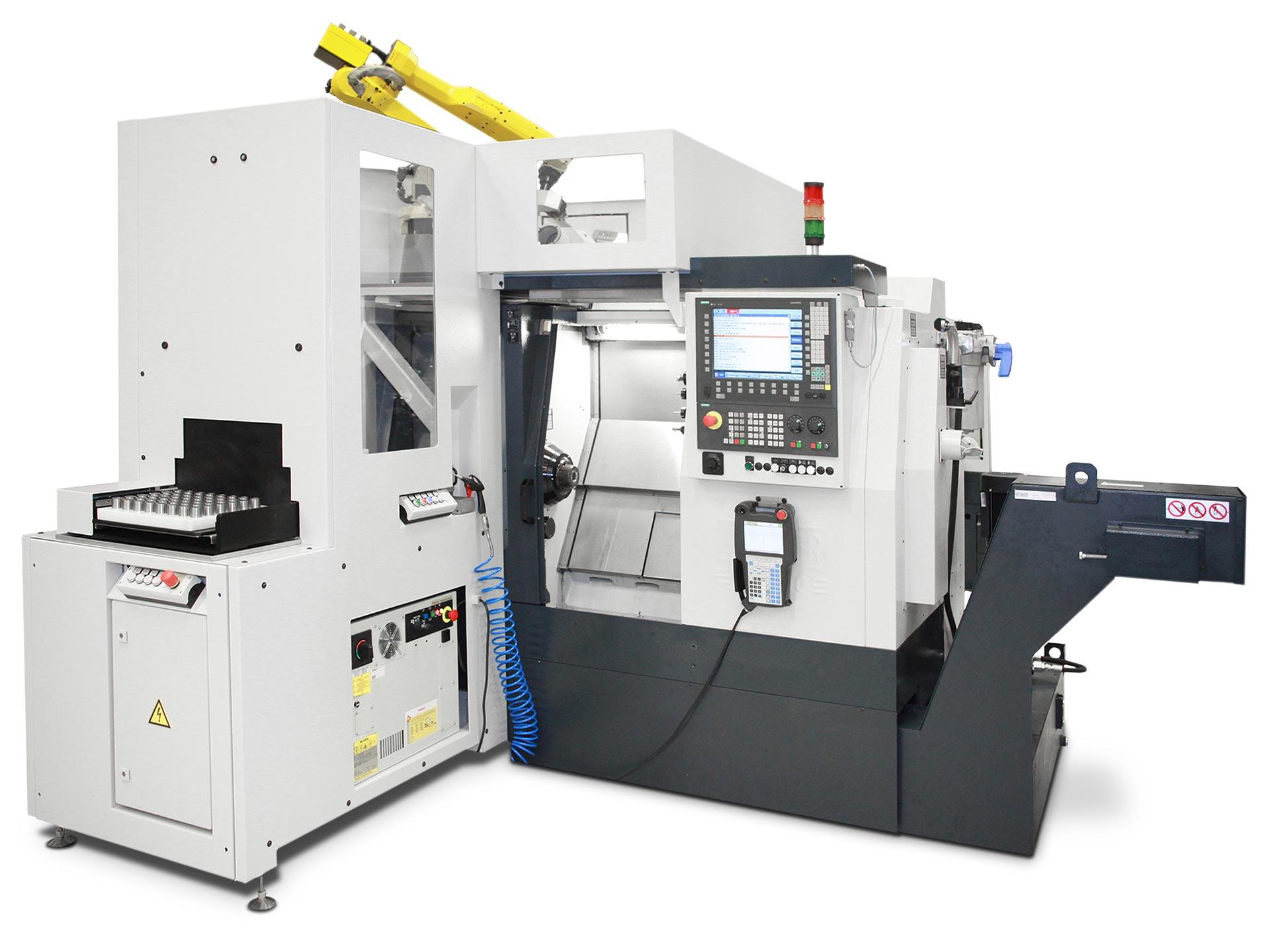 Spinner AG - leistungsstarke Universaldrehmaschine TC400 - Palettenwechsler