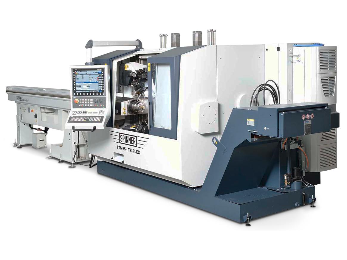 Spinner AG - Produktionsdrehmaschine TTS-Triplex - Stangenlader