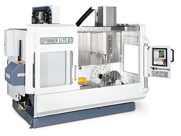 Spinner AG - Spinner 5-Achs-Universalbearbeitungszentrum U5-1530 Compact mit Heidenhain TNC620 Multitouch-Bedienung