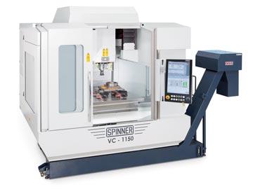 Spinner AG - Hochleistungsbearbeitungszentrum VC1150-Advanced mit Steuerung Siemens Sinumerik 840D sl und Spinner Touch-Panel 4.0