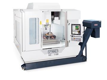 Spinner AG - Hochleistungsbearbeitungszentrum VC1150-Compact mit Steuerung Heidenhain TNC 620 und Heidenhain Touch-Display