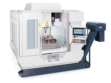 Spinner AG - Hochleistungsbearbeitungszentrum VC1150-Compact mit Steuerung Siemens Sinumerik 840D sl und Siemens Touch-Display