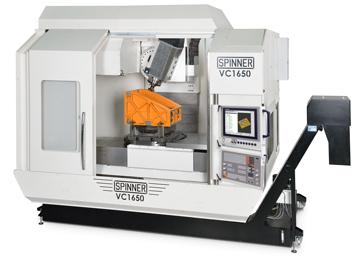 Spinner AG - 5-Achs-Hochleistungsbearbeitungszentrum VC1650-5A mit Heidenhain TNC 640