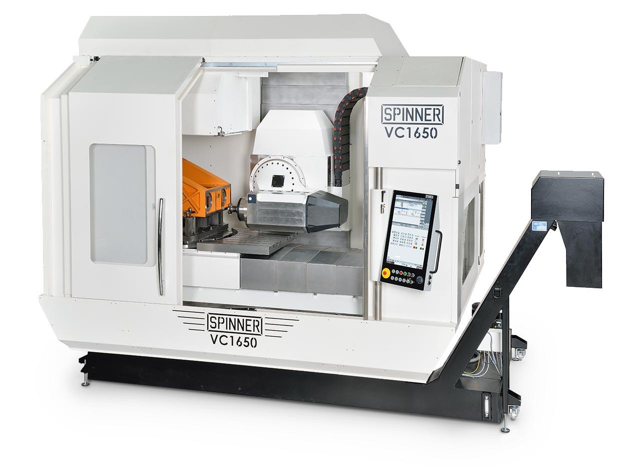 Spinner AG - 5-Achs-Hochleistungsbearbeitungszentrum VC1650-5A mit Spinner Touch-Panel 4.0