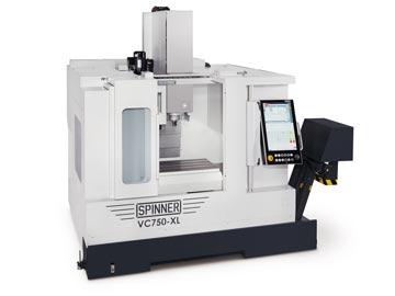 Spinner AG - Hochleistungsbearbeitungszentrum VC750-XL mit Steuerung Siemens Sinumerik 840D sl und Spinner Touch-Panel 4.0