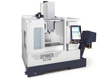 Spinner AG - Hochleistungsbearbeitungszentrum VC750 mit Steuerung Siemens Sinumerik 840D sl und Spinner Touch-Panel 4.0
