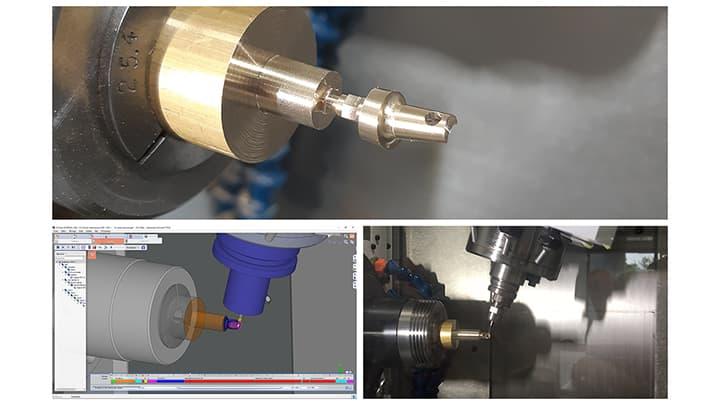 Spinner AG - GO2cam: Maschinenraumsimulation Dreh-Fräsen