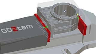Spinner AG - GO2cam: Bearbeitung mit Spannmittel